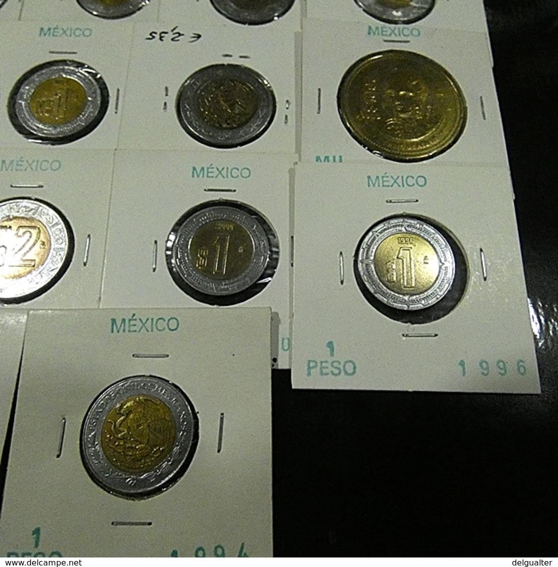 Mexico 22 Coins All Varnished - Kilowaar - Munten
