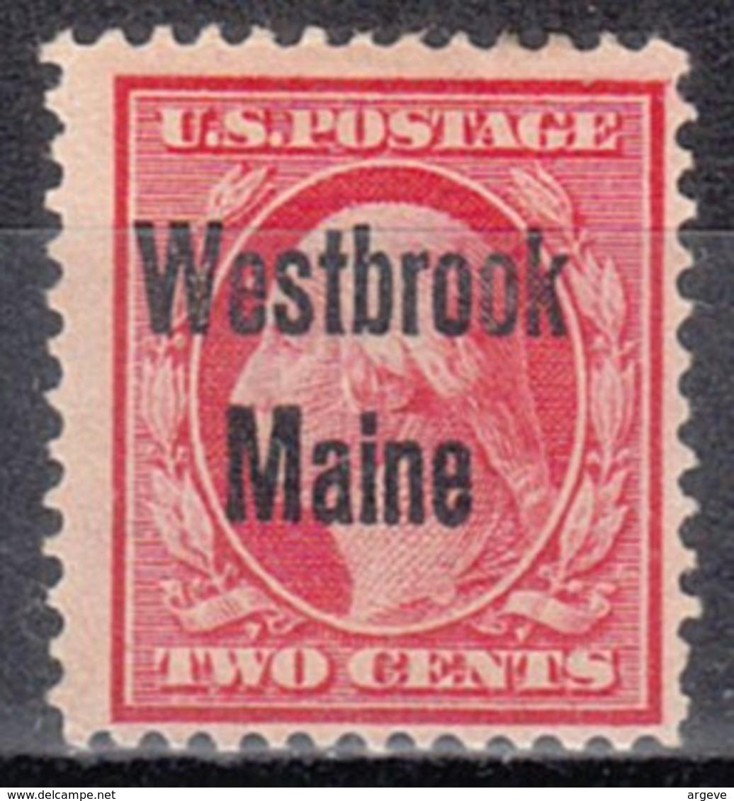 USA Precancel Vorausentwertung Preo, Locals Maine, Westbrook 1908-L-1 TS - Vorausentwertungen