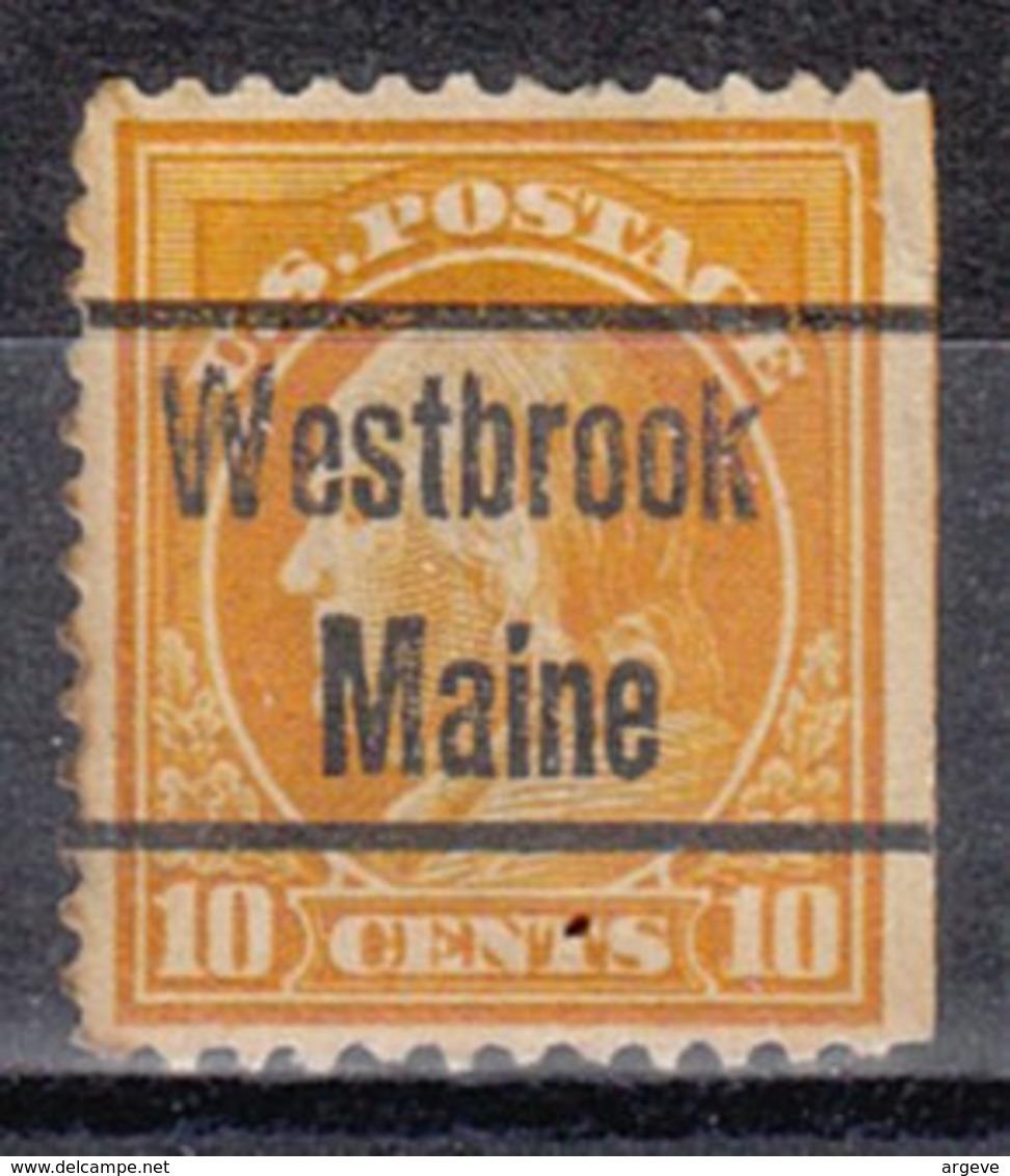 USA Precancel Vorausentwertung Preo, Locals Maine, Westbrook 1912-L-2 TS - Vereinigte Staaten