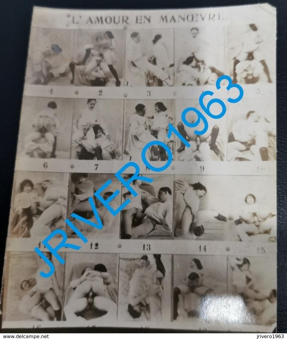 Multi View, L'amour En Manoeuvre, Naked, Nude, Porn, 84x124mm - Belleza Feminina (...-1920)