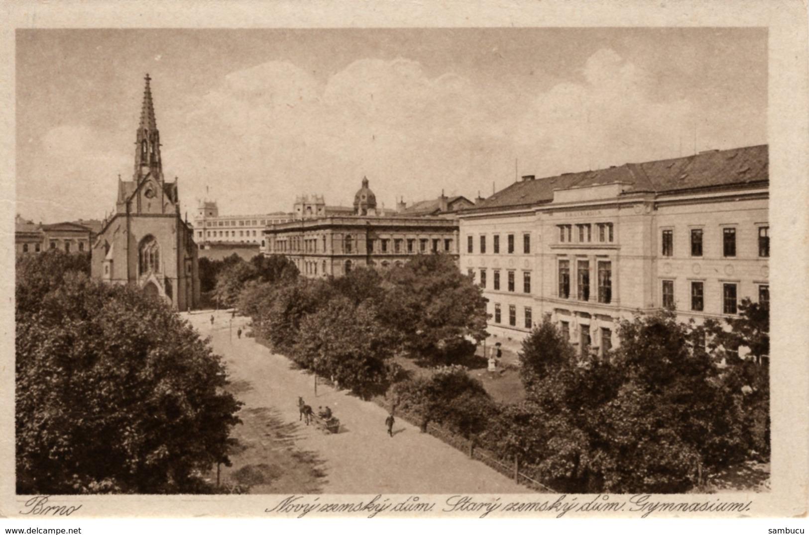 Brno Brünn - Novy Zemsky Dum Stary Dum Gymnasium Ca 1940 - Tschechische Republik