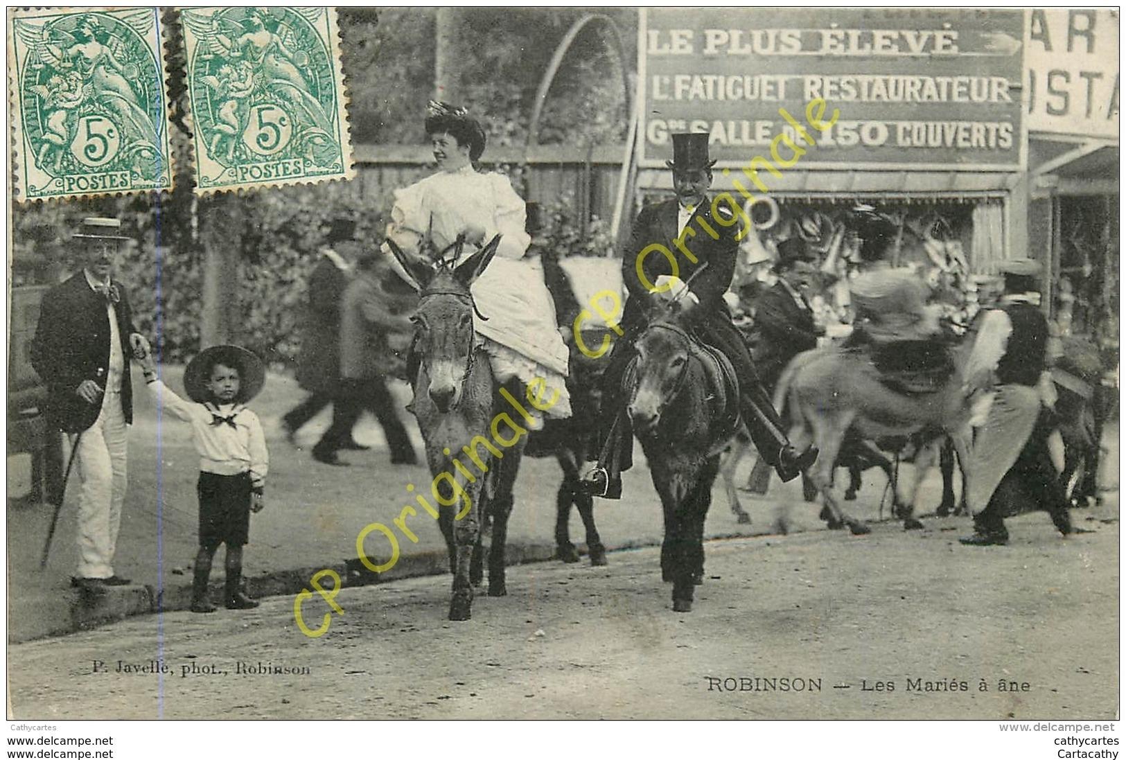 92.  ROBINSON .  Les Mariés à Ane . - Francia