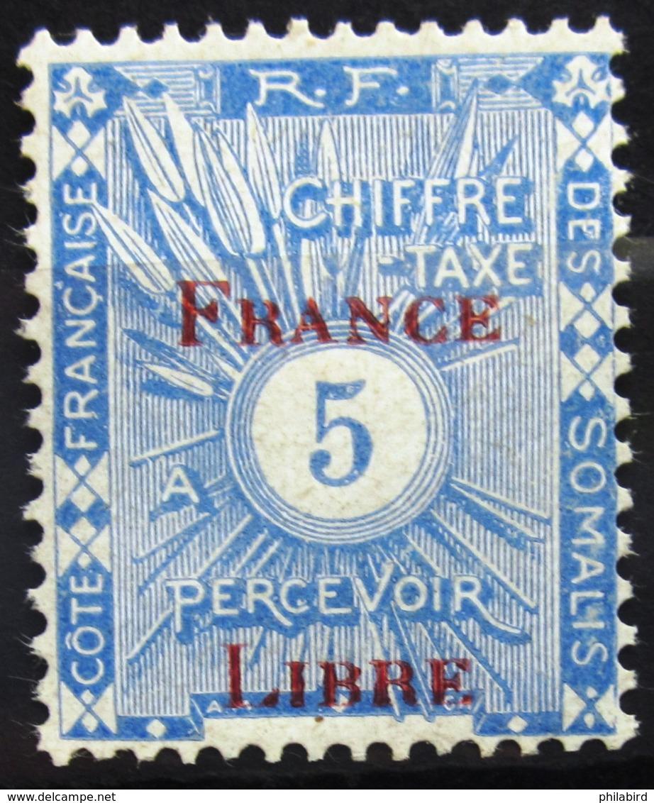 COTES DES SOMALIS                 TAXE 29                   NEUF** - Côte Française Des Somalis (1894-1967)
