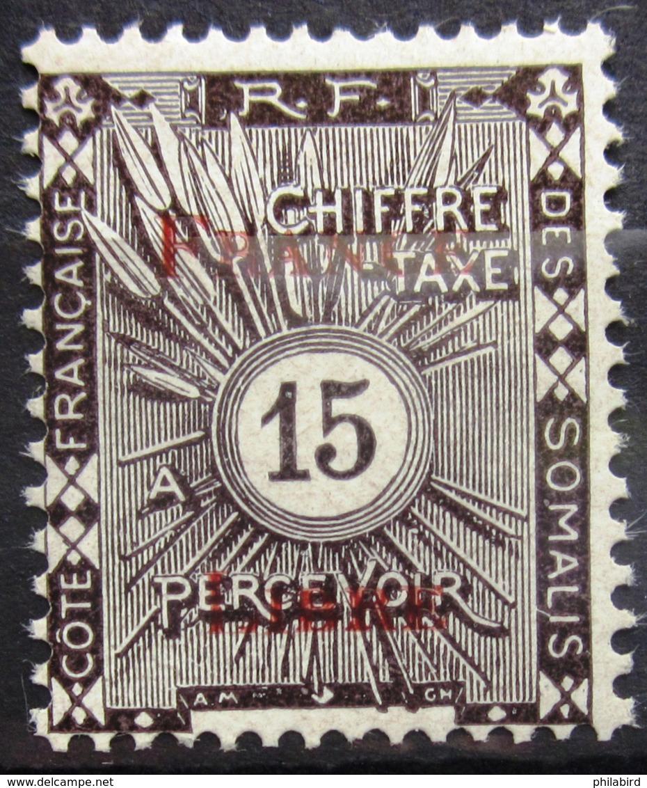 COTES DES SOMALIS                 TAXE 31                   NEUF** - Côte Française Des Somalis (1894-1967)