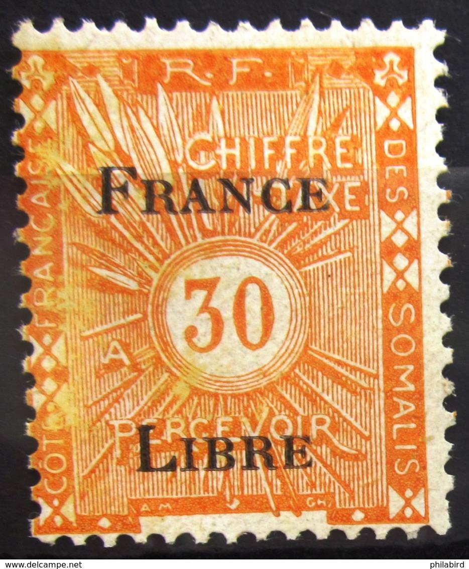 COTES DES SOMALIS                 TAXE 33                   NEUF** - Côte Française Des Somalis (1894-1967)