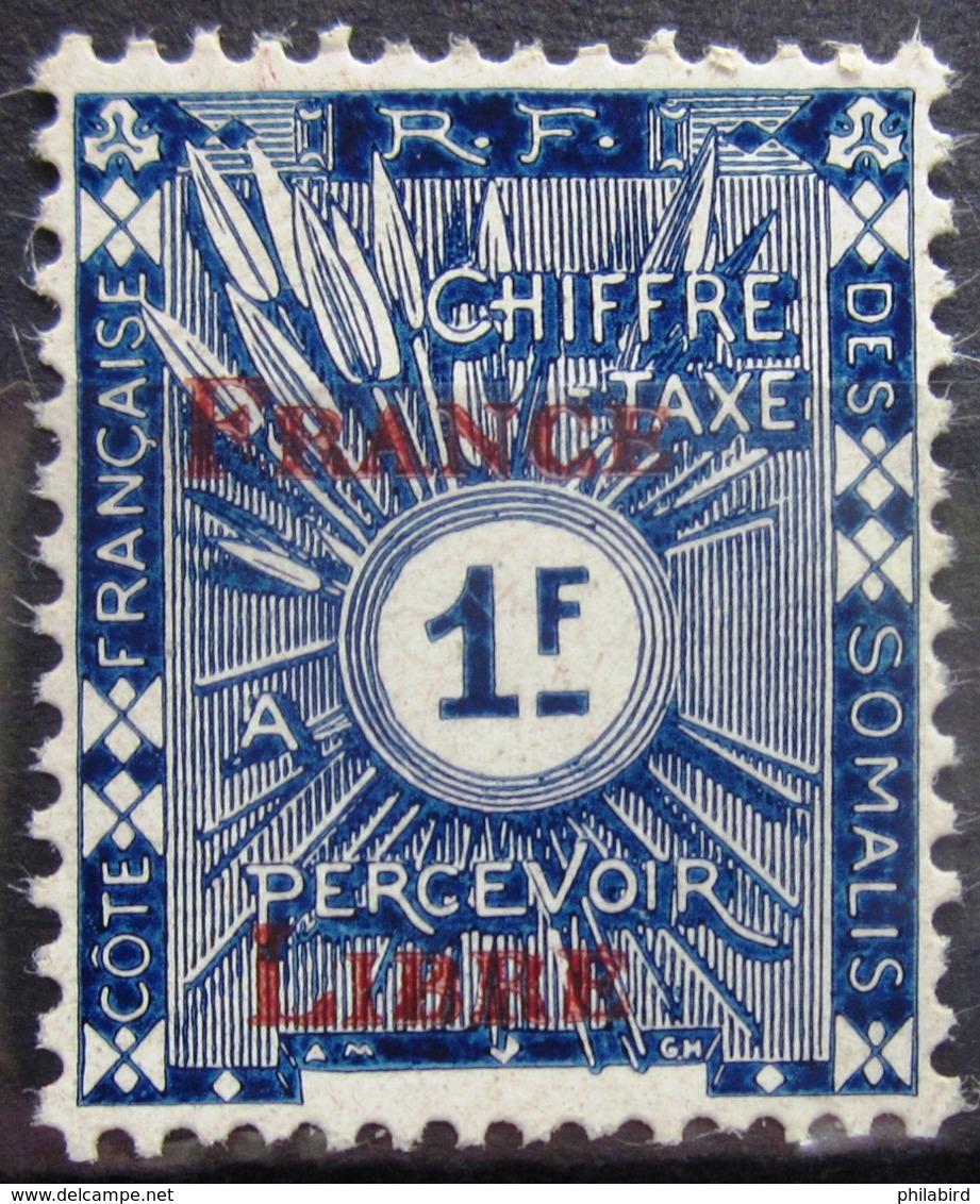 COTES DES SOMALIS                 TAXE 36                   NEUF** - Côte Française Des Somalis (1894-1967)