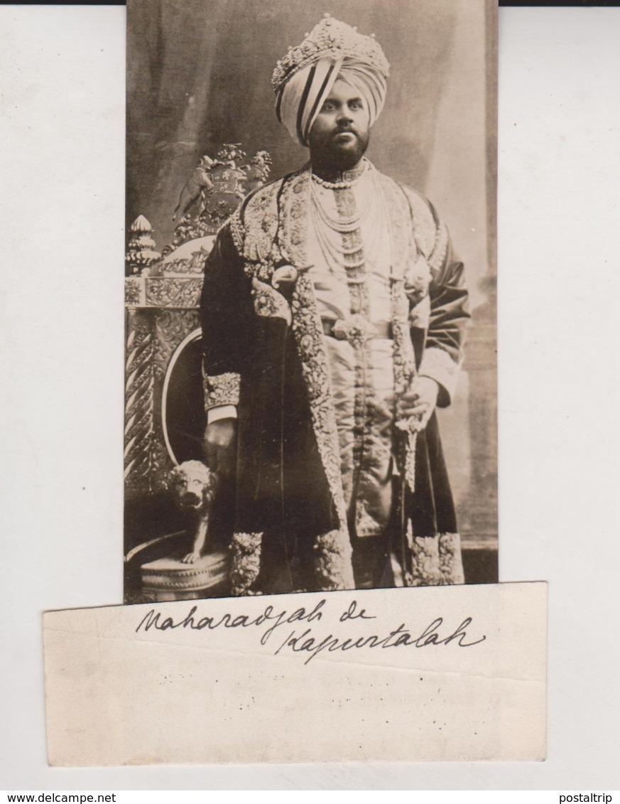 THE RAJAH OF KAPURTHALA NATIVE INDIAN RULERS KING GEORGE INDE INDIA 15*7.5CM Fonds Victor FORBIN 1864-1947 - Personalidades Famosas