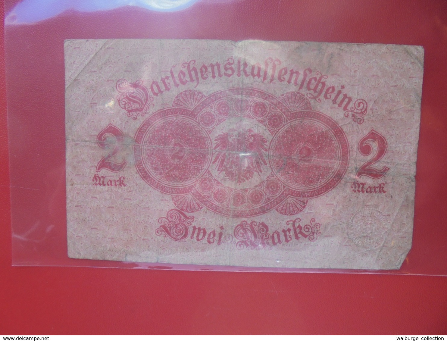 Darlehnskassenschein :2 MARK 1914 CIRCULER (B.8) - [ 2] 1871-1918 : Impero Tedesco