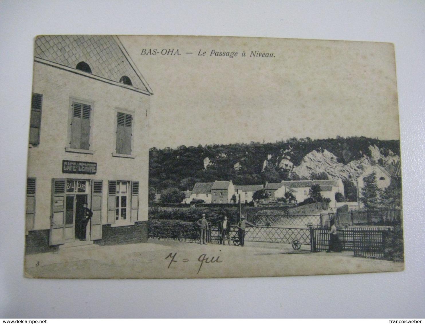 Ancien Carte Postale De Bas-oha Passage A Niveau - Autres
