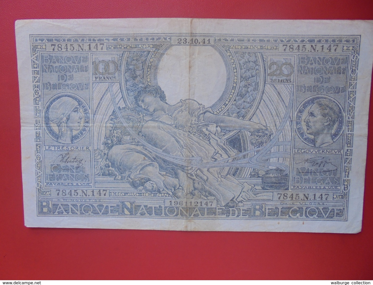 BELGIQUE 100 FRANCS 1941 CIRCULER (B.8) - 100 Frank