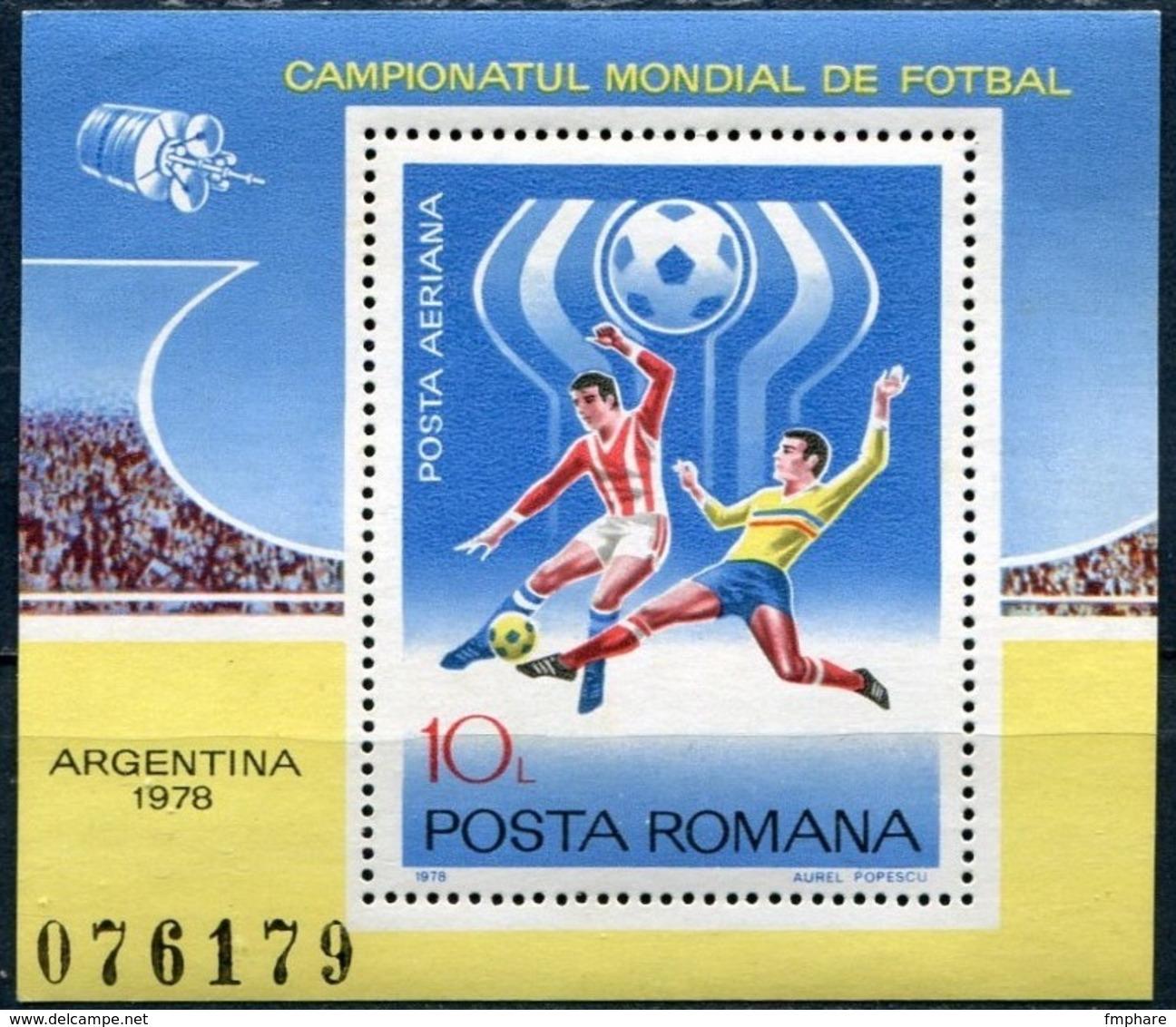 WM78 ROUMANIE SPORT Coupe Du Monde FOOTBALL Neuf** MNH - Football
