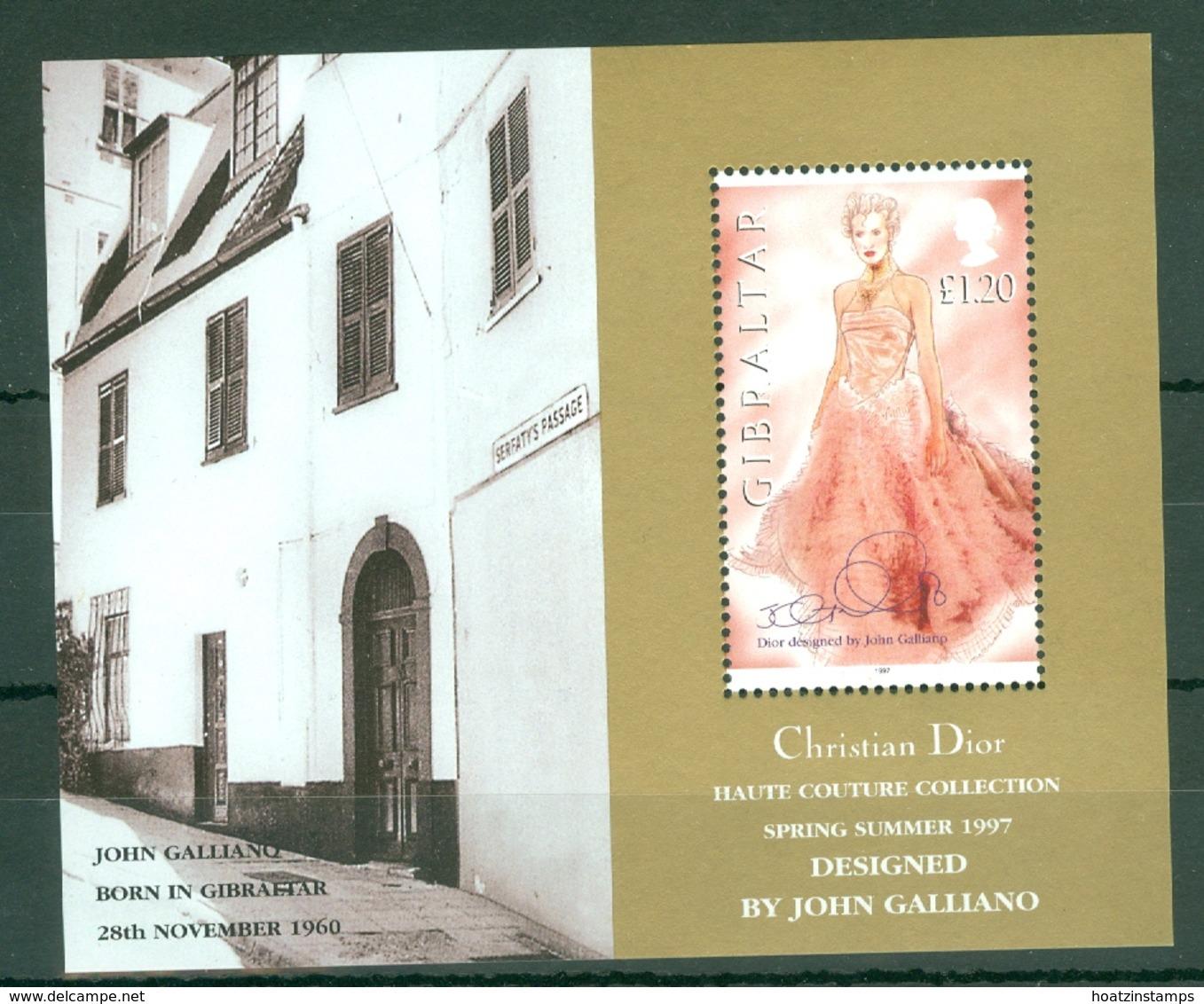 Gibraltar: 1997   Christian Dior Spring / Summer Collection   M/S  MNH - Gibraltar