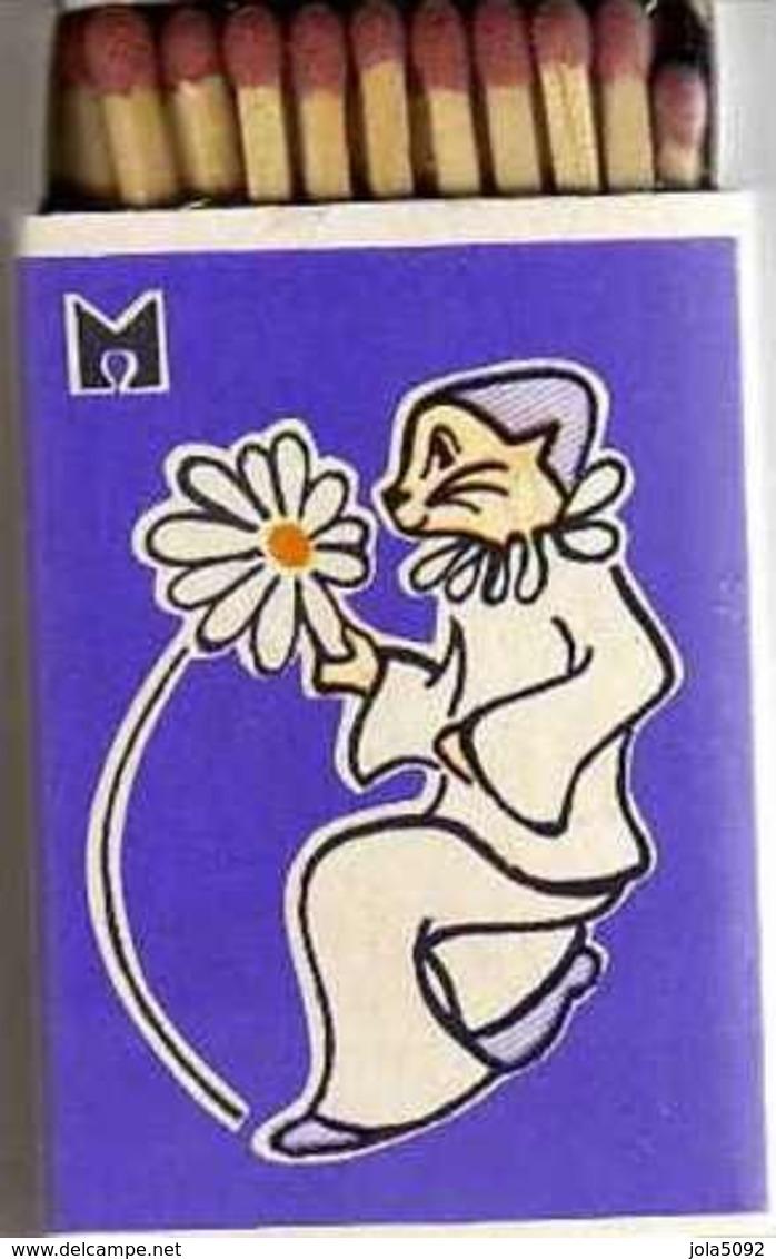 Boîte D'allumettes - ABECEDAIRE - Lettre M Comme Marguerite - Illustré Par F. Arnaud - Boites D'allumettes