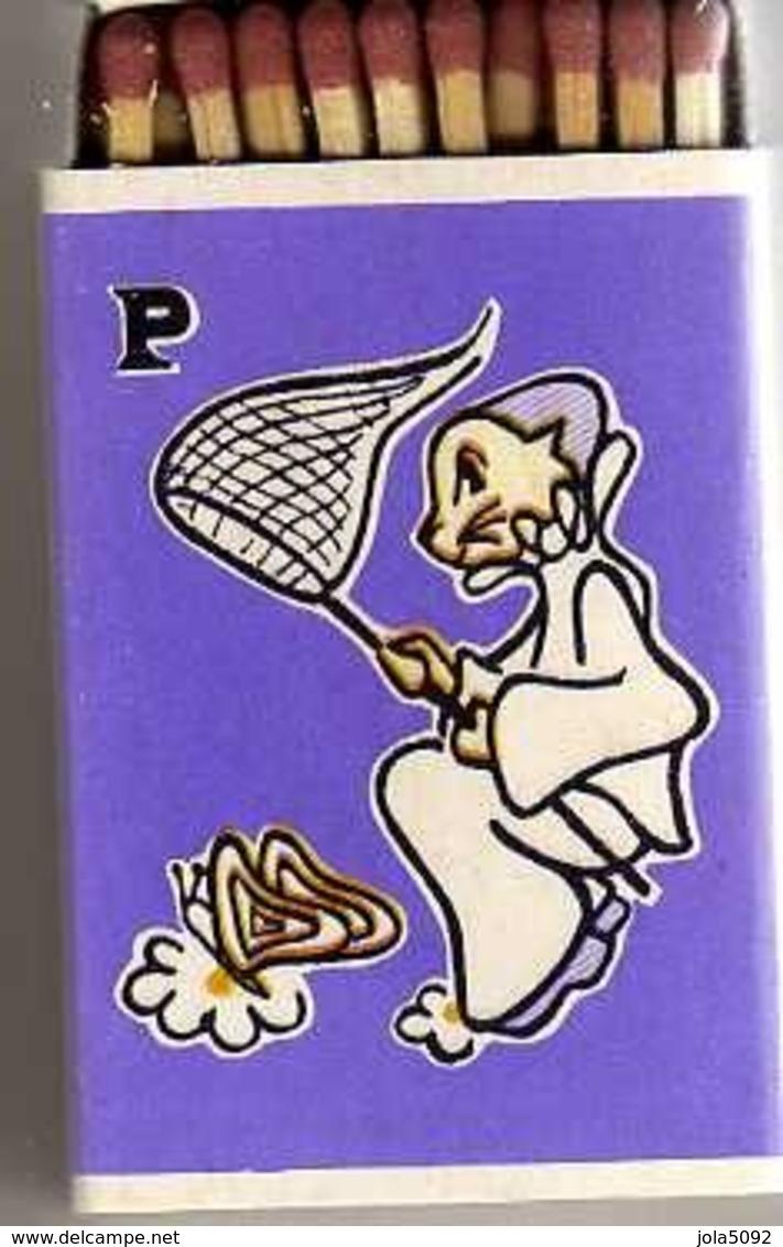 Boîte D'allumettes - ABECEDAIRE - Lettre P Comme Papillon - Illustré Par F. Arnaud - Boites D'allumettes