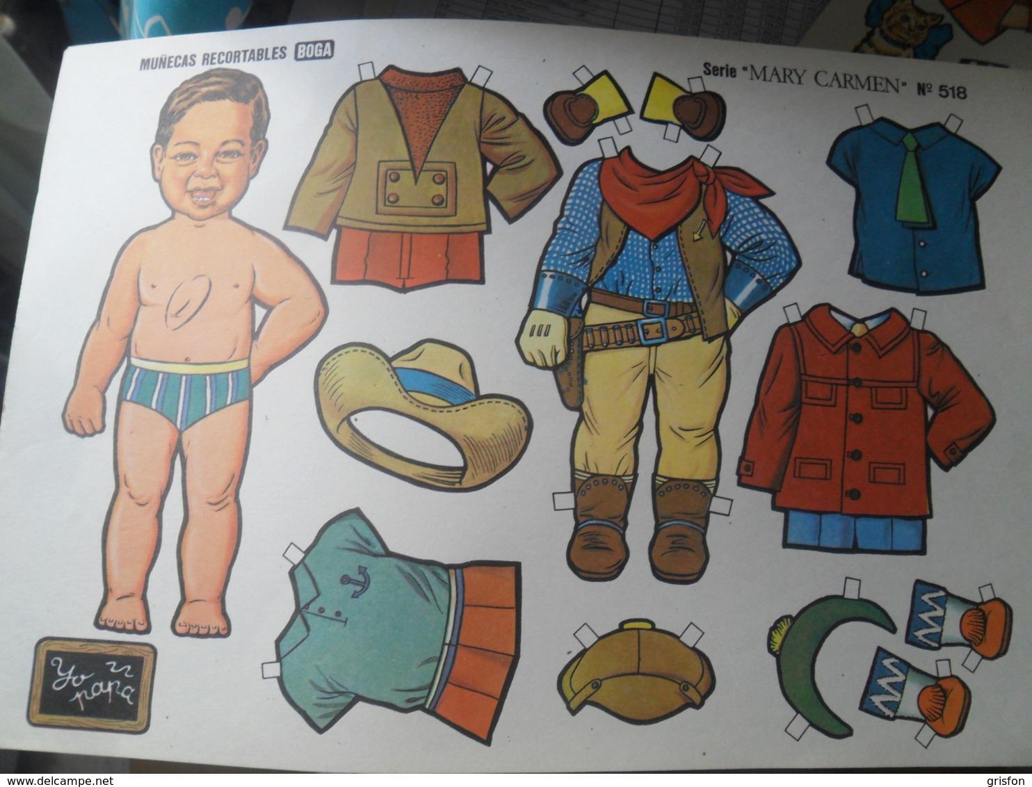 Cut Out Doll Cowboy A Decouper - Altre Collezioni