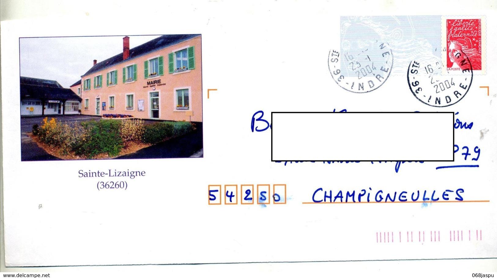 Pap Luquet Cachet Sainte Lizaigne Illustré Mairie - PAP: Ristampa/Luquet