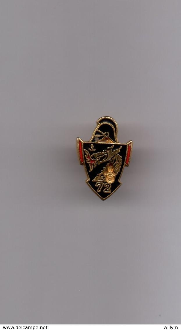 Pin's Armée / Insigne 72ème Régiment Du Génie (EGF Doré) Hauteur: 1,9 Cm - Militaria