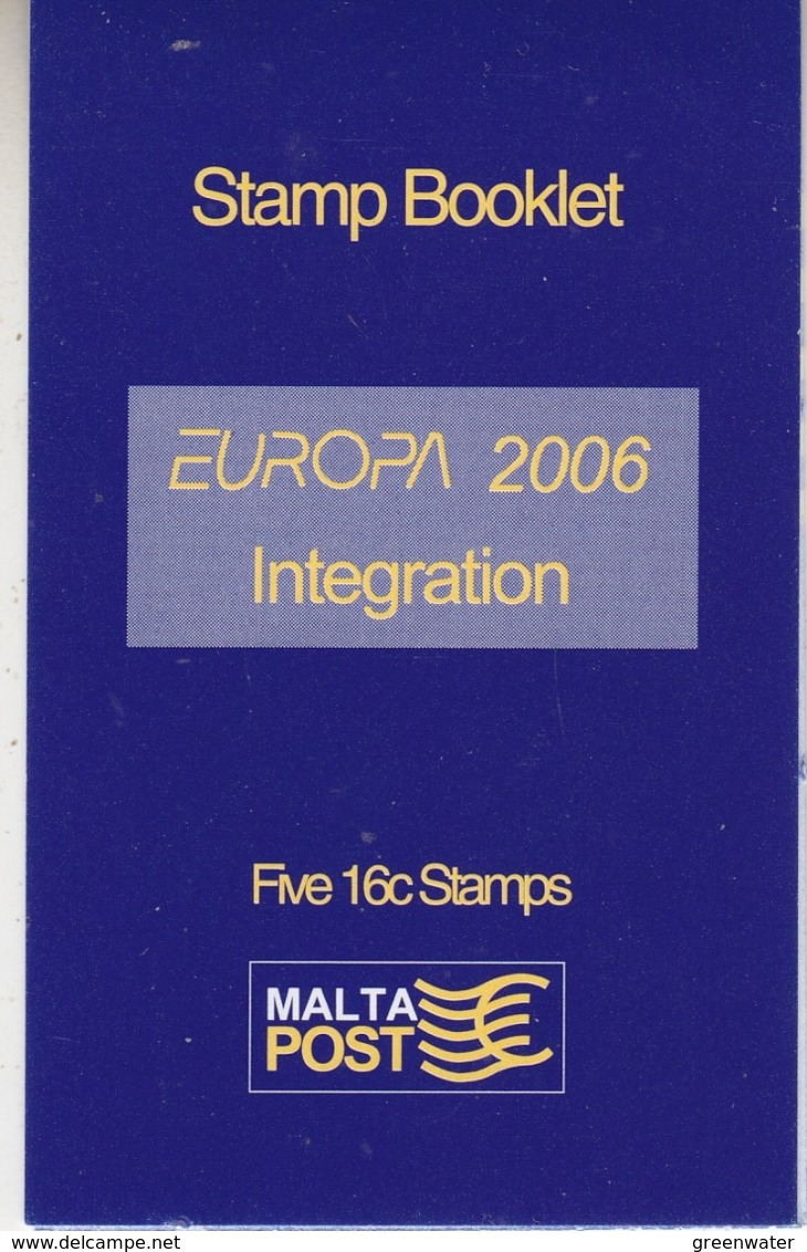 Europa Cept 2006 Malta Booklet ** Mnh (44719) - Europa-CEPT