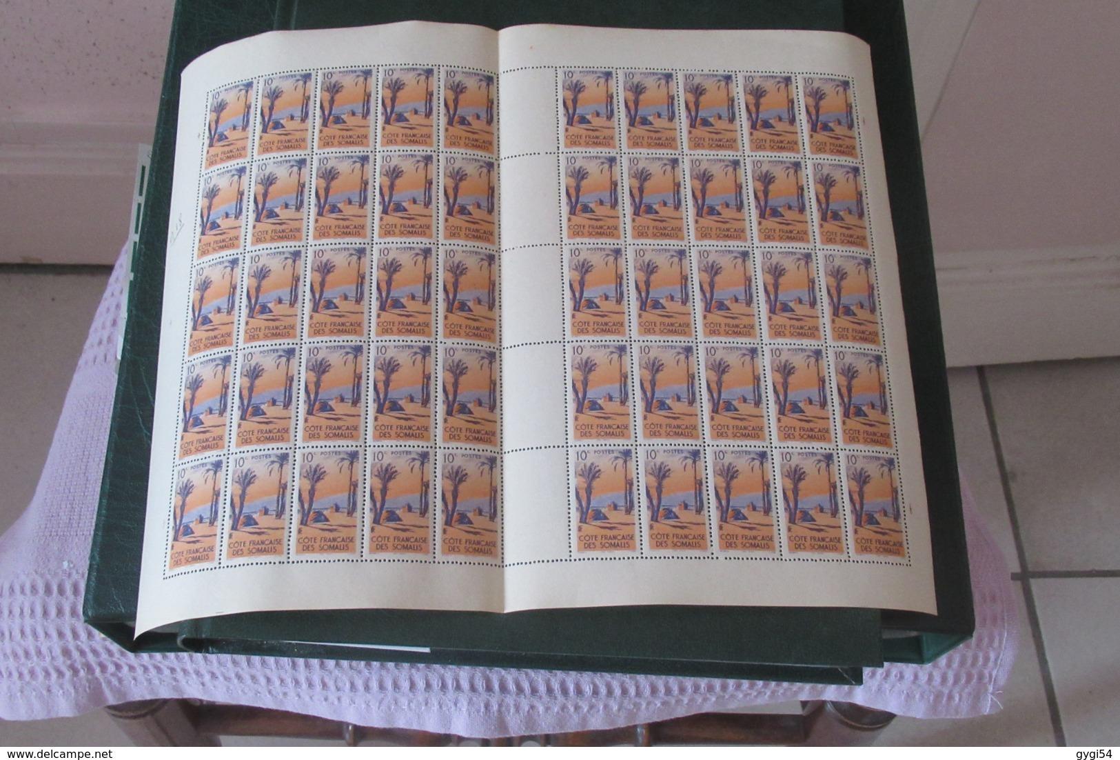 Côte  Des Somalis  Feuille Entière De 50  Exemplaires N** MNH       CAT YT  N° 264  N**  MNH - Côte Française Des Somalis (1894-1967)
