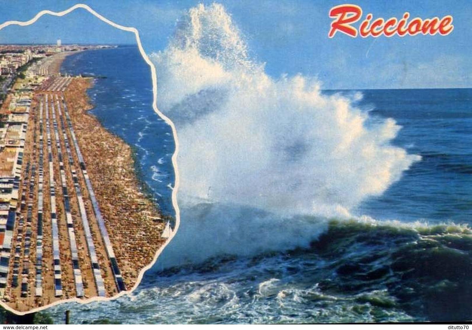 Riccione - 2195 - Formato Grande Viaggiata – E 13 - Rimini