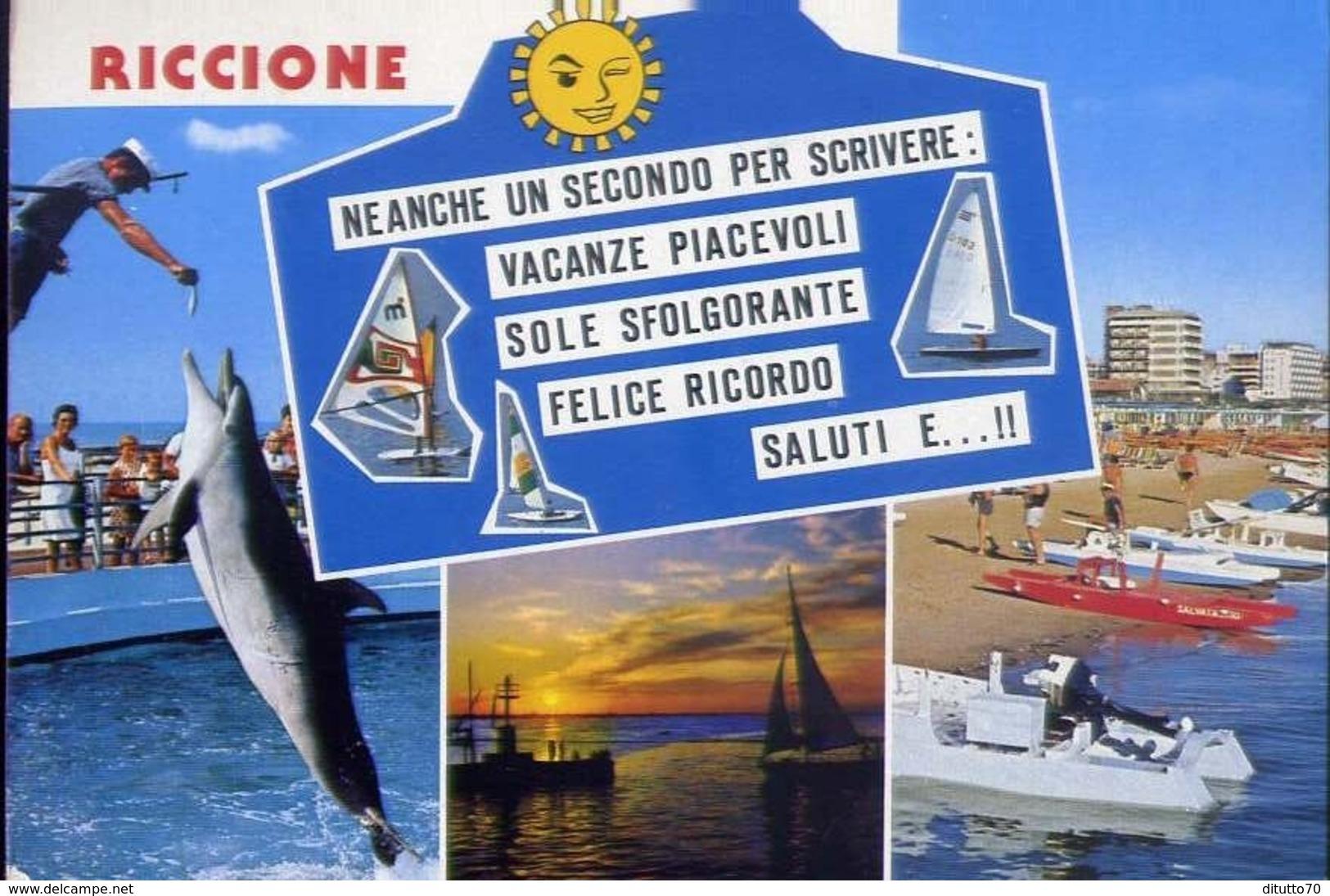 Riccione - Neanche Un Secondo Per Scrivere - Formato Grande Viaggiata –  E 13 - Rimini