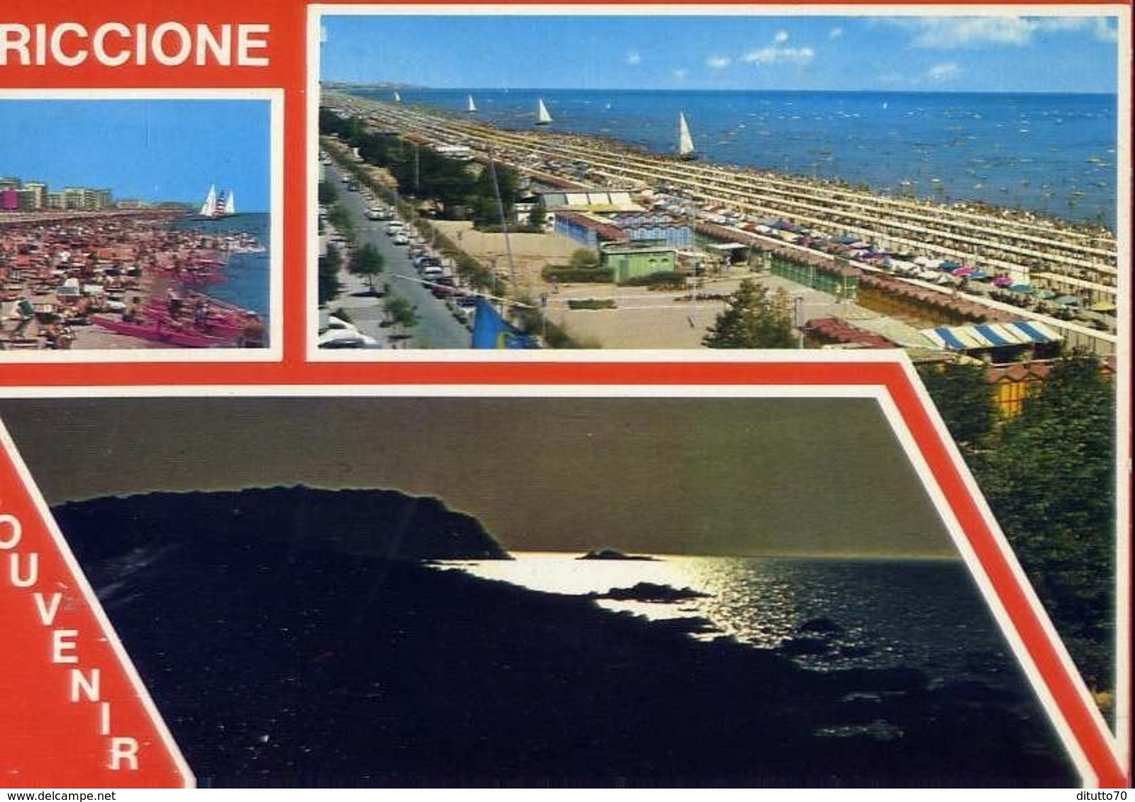 Souvenir Di Riccione - Formato Grande  Viaggiata – E 13 - Rimini