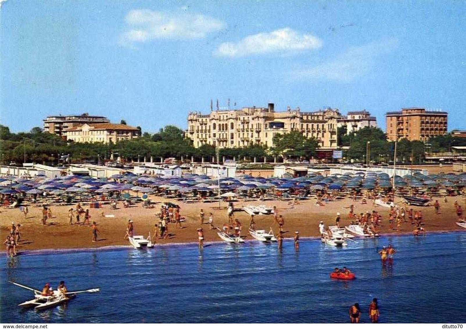 Rimini - Grand Hotel E Spiaggia - Formato Grande Viaggiata – E 13 - Rimini