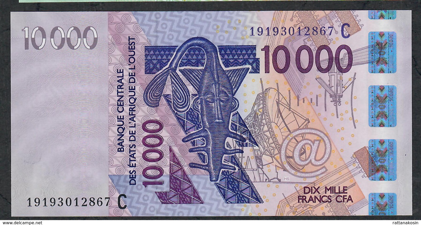 W.A.S. BURKINA FASO P318Cs  10000  OR 10.000 FRANCS (20)19 2019 UNC. - West African States