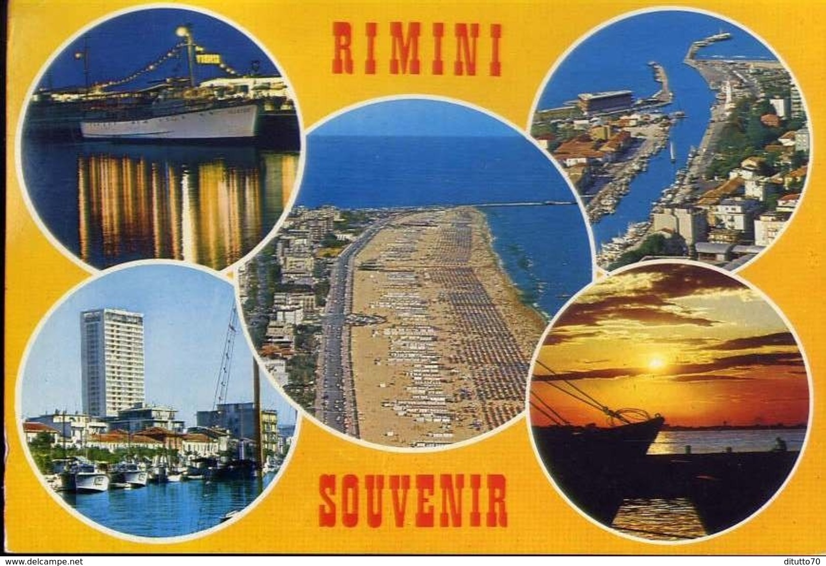 Rimini - Souvenir - Formato Grande Viaggiata Mancante Di Affrancatura – E 13 - Rimini