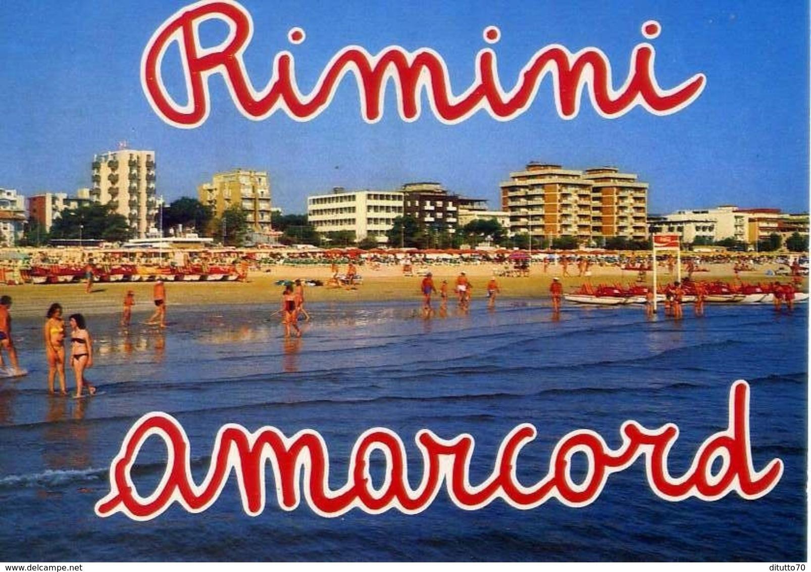 Rimini - Spiaggia E Alberghi - Formato Grande Viaggiata – E 13 - Rimini