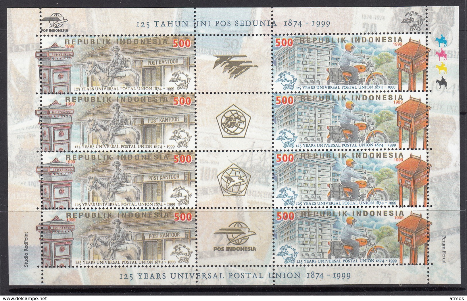 Indonesia MNH Michel Nr 1934/35 Sheet From 1999  / Catw 4.20 EUR - Indonesië