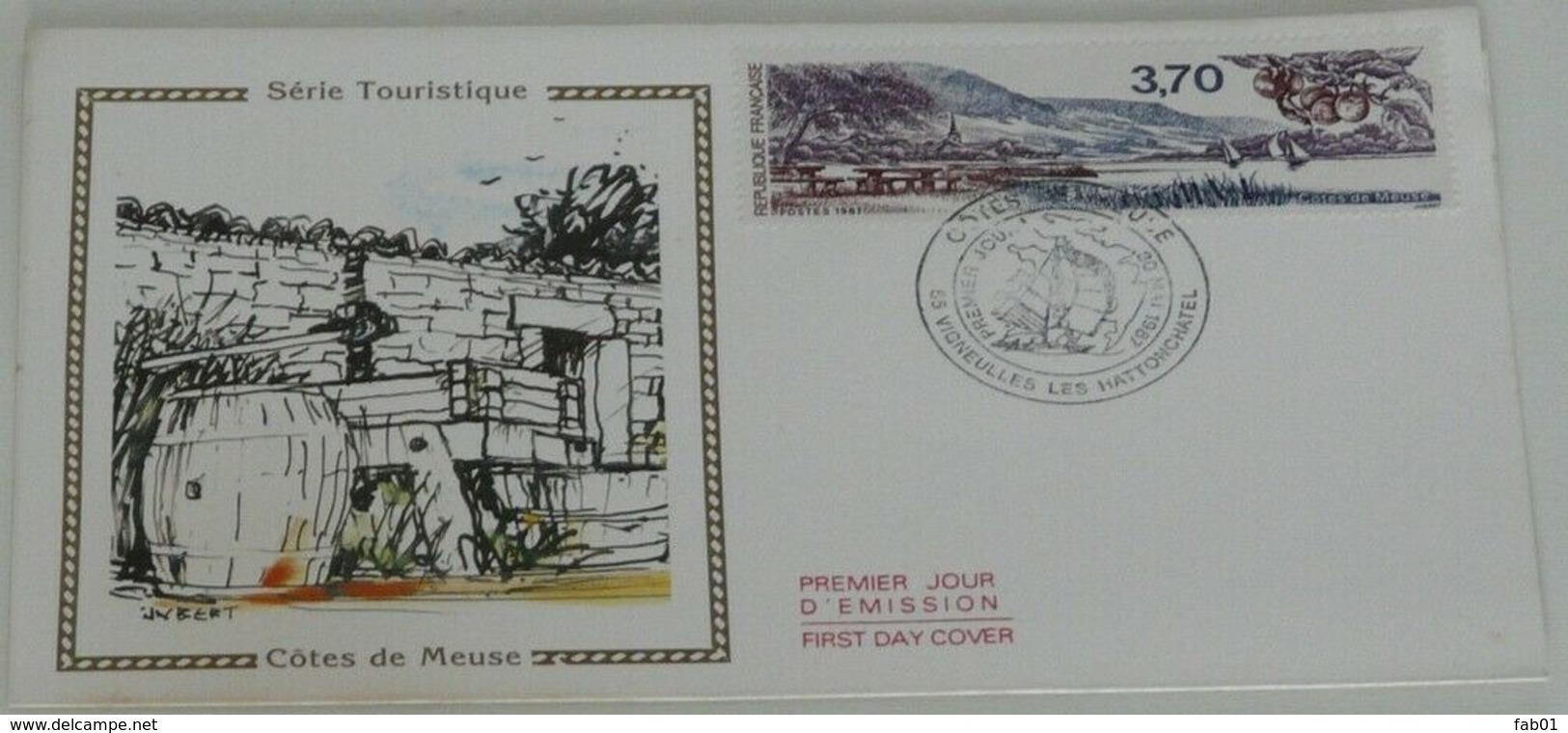 Enveloppe 1er Jour Côtes De Meuse,1987 - Marcophilie (Lettres)