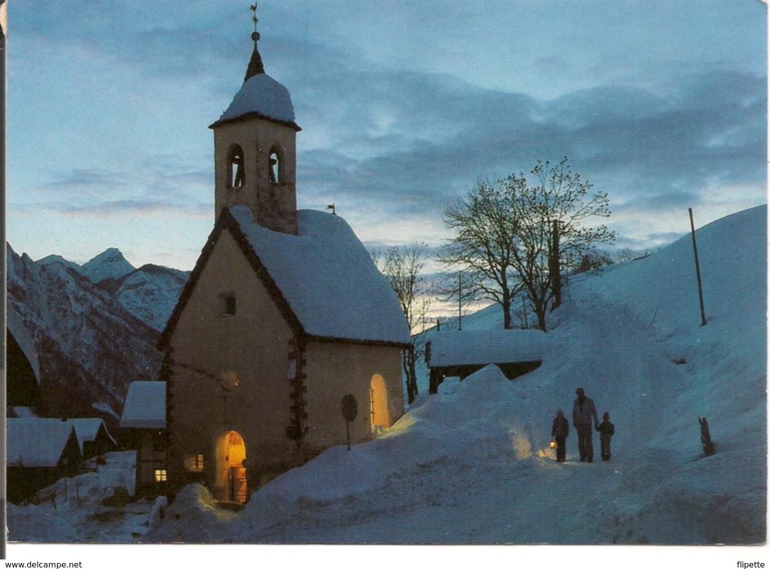 L120B673 - Autriche - Chapelle Enneigée Au Crépuscule - Photo Gaggi Meirer - Austria
