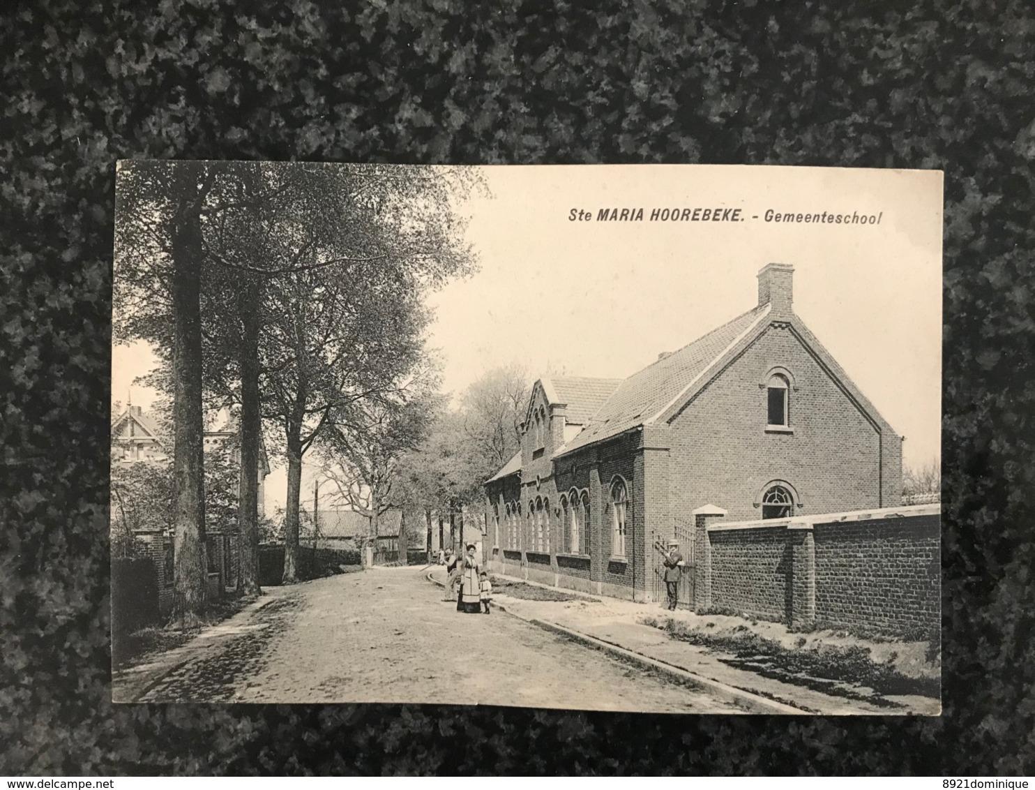 Sainte-Maria-Hoorebeke Sint-Marie-Horebeke - Gemeenteschool  - Uitg. De Clippele - Van Wymeersch - Geanimeerd - Horebeke