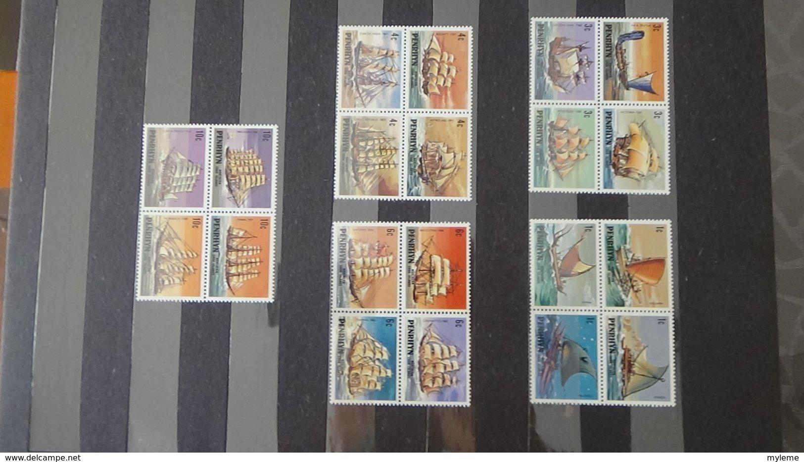 Belle Thématiques Sur Les Bateaux En Timbres Et Blocs  **. A Saisir !!! - Timbres