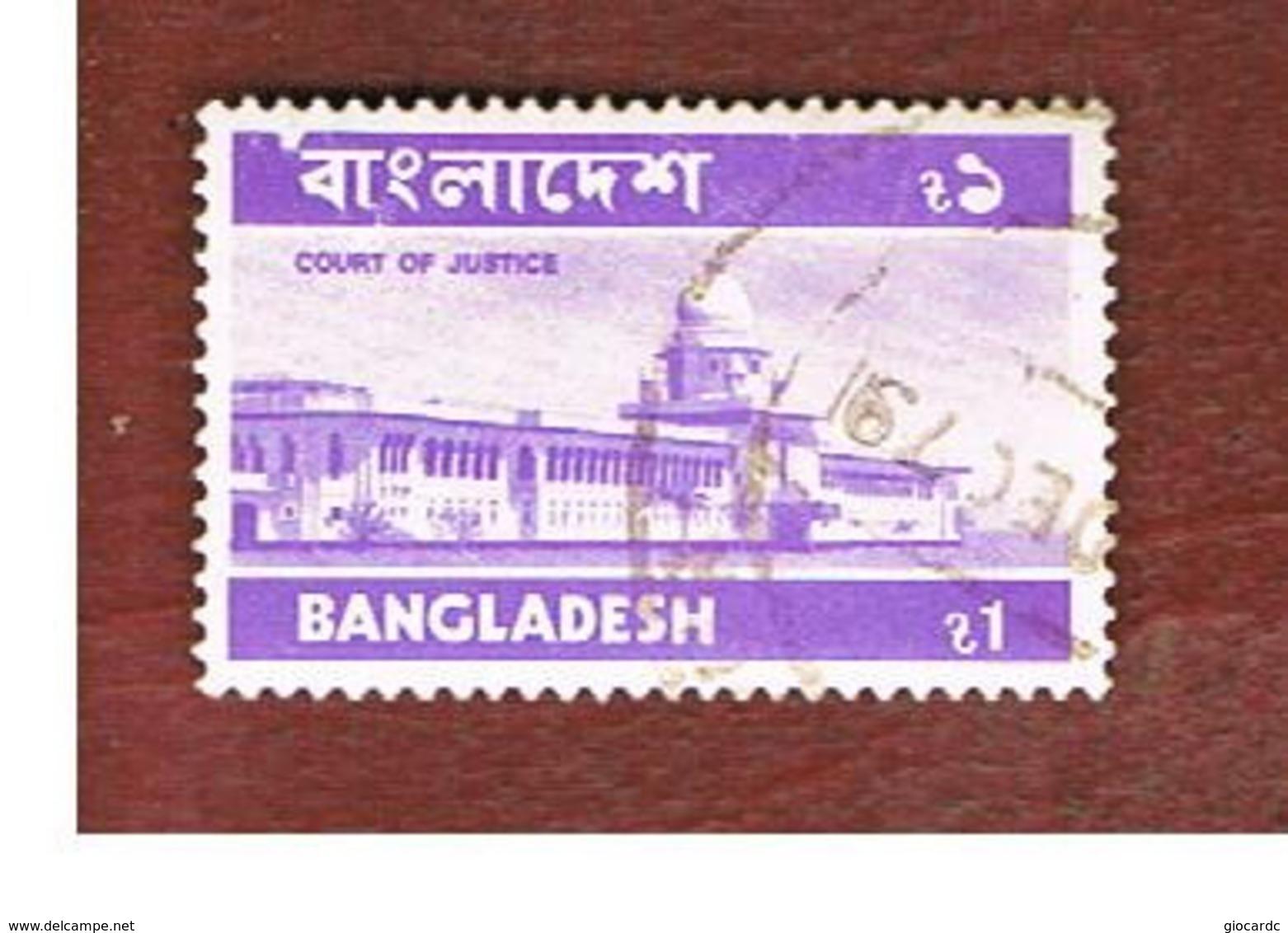 BANGLADESH  -  SG 72  -  1976 COURT OF JUSTICE   (32X20)         - USED  ° - Bangladesh