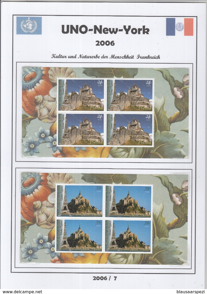 Free Shipping To //  Beautiful Compilation Of Year 2006 ** / MNH On Self-formed Sheets - New York – UN Headquarters