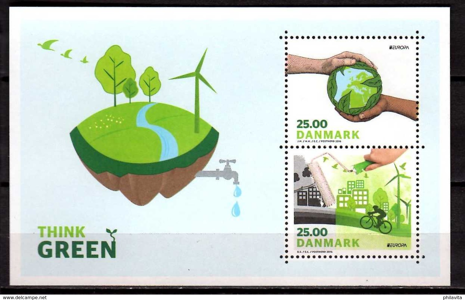 2016 Denmark - Europa CEPT - Living Green - MS - MNH** MiNr. 1882 - 1883 (Block 63) - Ungebraucht