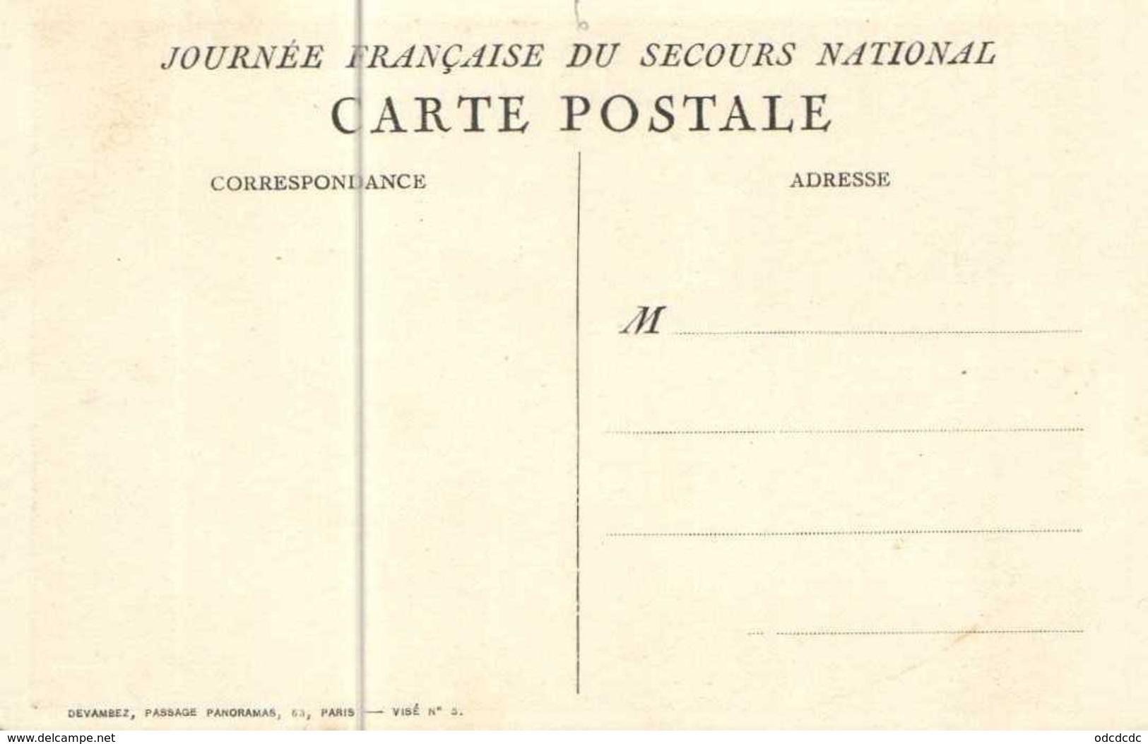 Patriotique C Leandre  1915 Journée Francaise Du Secours National RV - Patriotic
