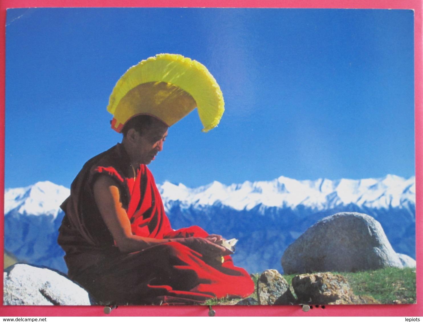 Tibet - Le Lama En Prière - Excellent état - Scans Recto Verso - Tibet