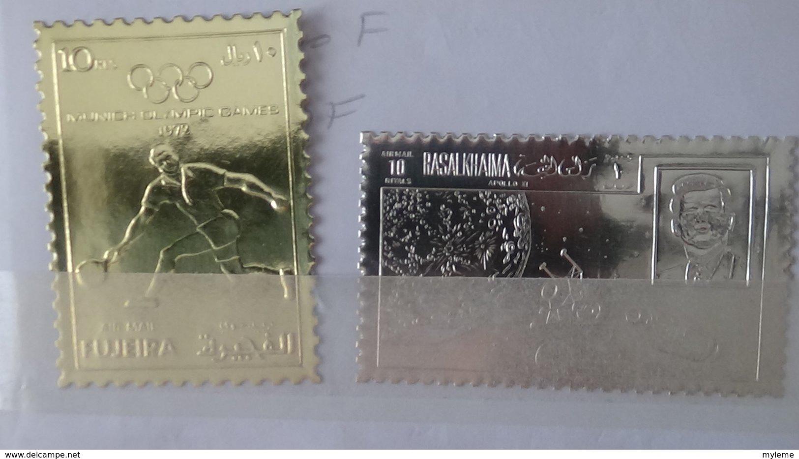 Sélection De Bonnes Valeurs ** Ou Oblitérées D'AFRIQUE Dont Timbres En Or Dans Un Carnet à Choix . A Saisir !!! - Stamps