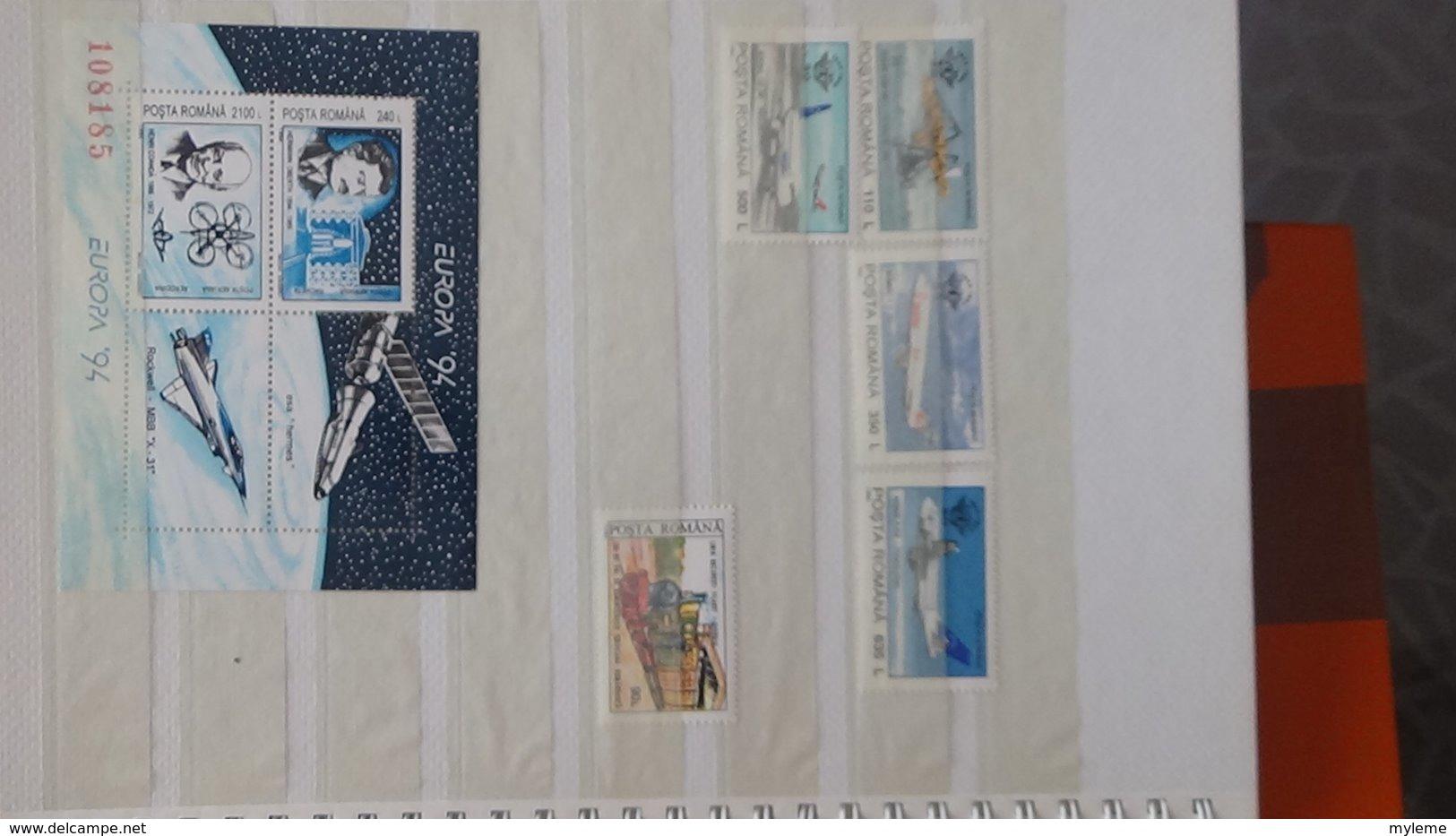 Petite Collection De ROUMANIE Entre 1994 Et 1996 En Timbres Et Blocs ** . A Saisir !!! - Timbres