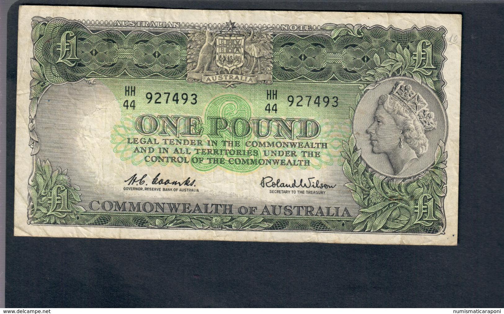 Australia 1 Pound  1961-65 Pick 34a Lotto 2807 - Emissioni Governative Decimali 1966-...