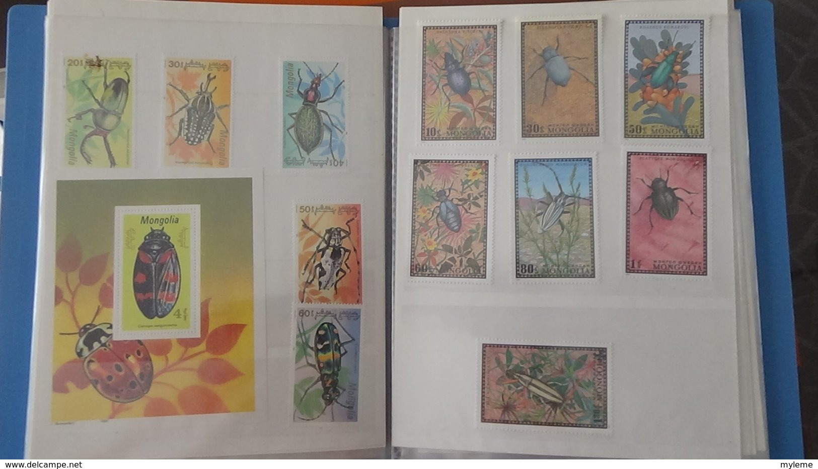 Petite Collection De MONGOLIE En Timbres Et Blocs ** Dans 3 Carnets . A Saisir !!! - Colecciones (en álbumes)