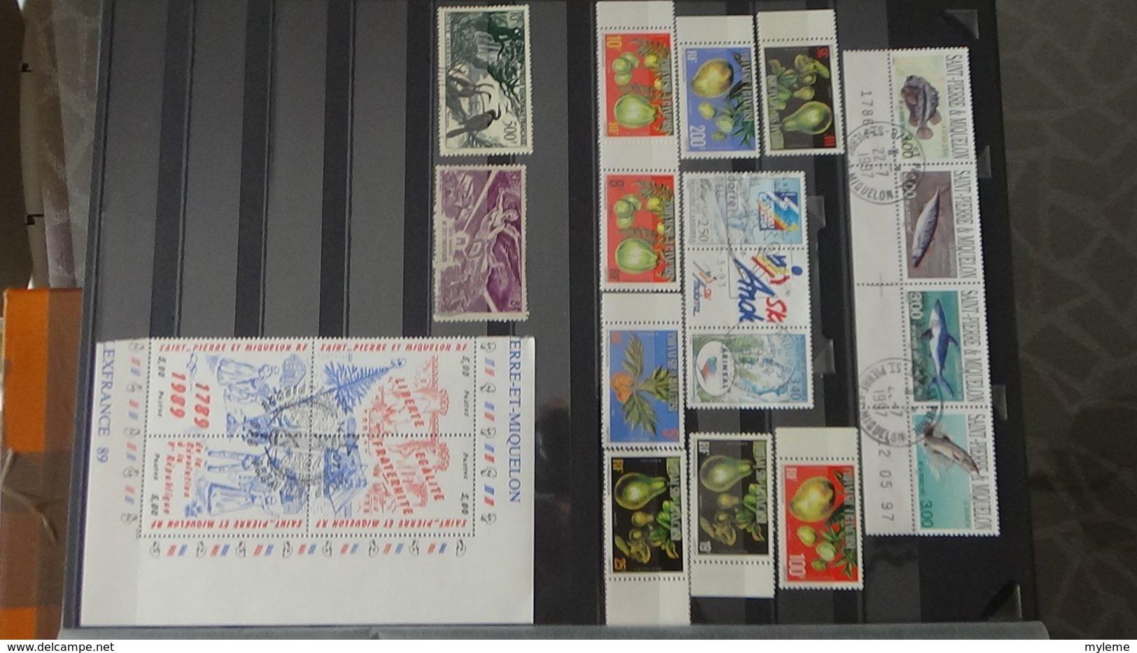 Anciennes Colonies Françaises Avec Bonnes Valeurs ** (1ère Page Et Autres) . A Saisir !!! - Stamps