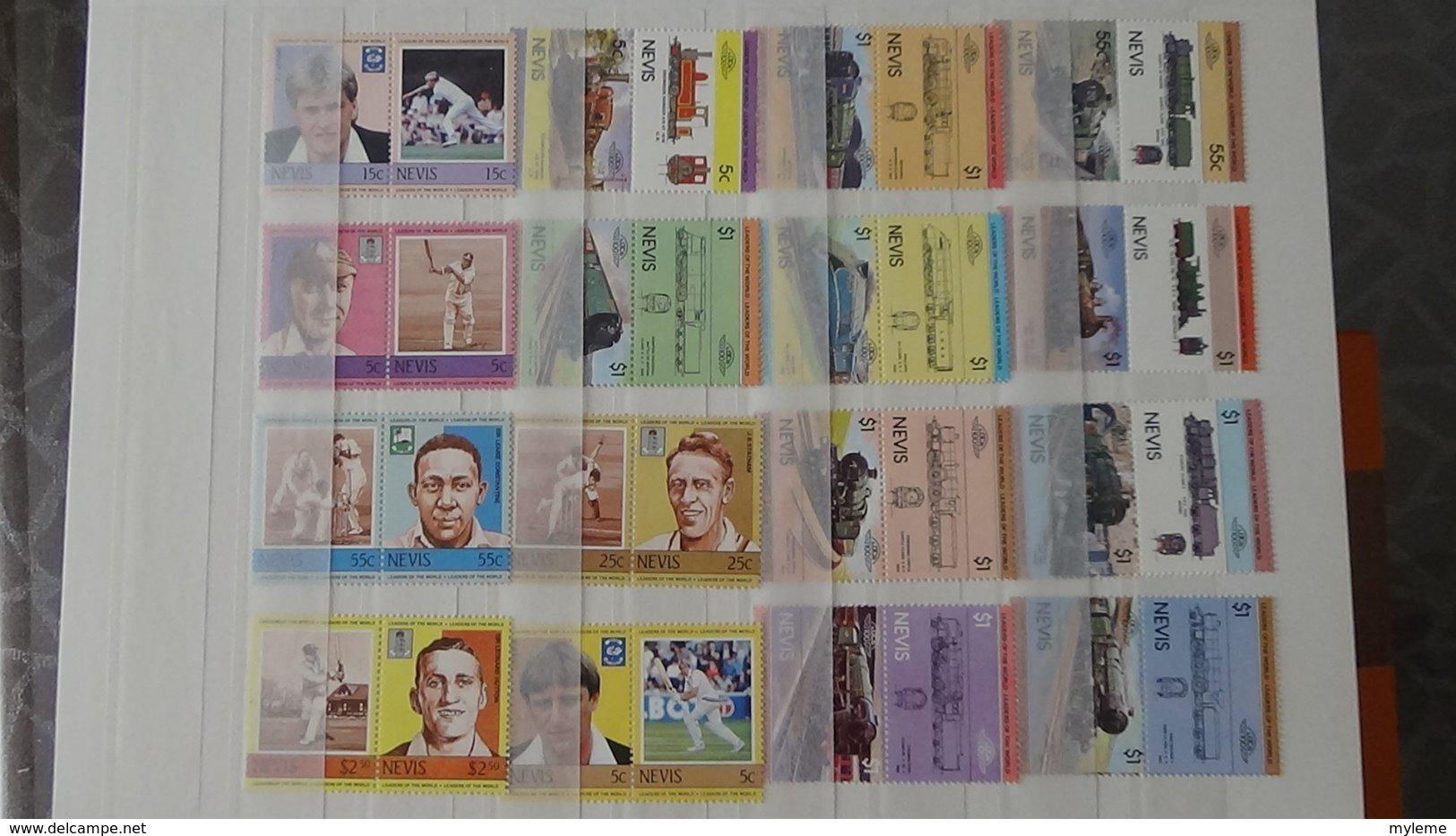 Plus De 140 Blocs, Bandes, Carnets ** + Timbres De Différents Pays. A Saisir !!! - Collezioni (in Album)