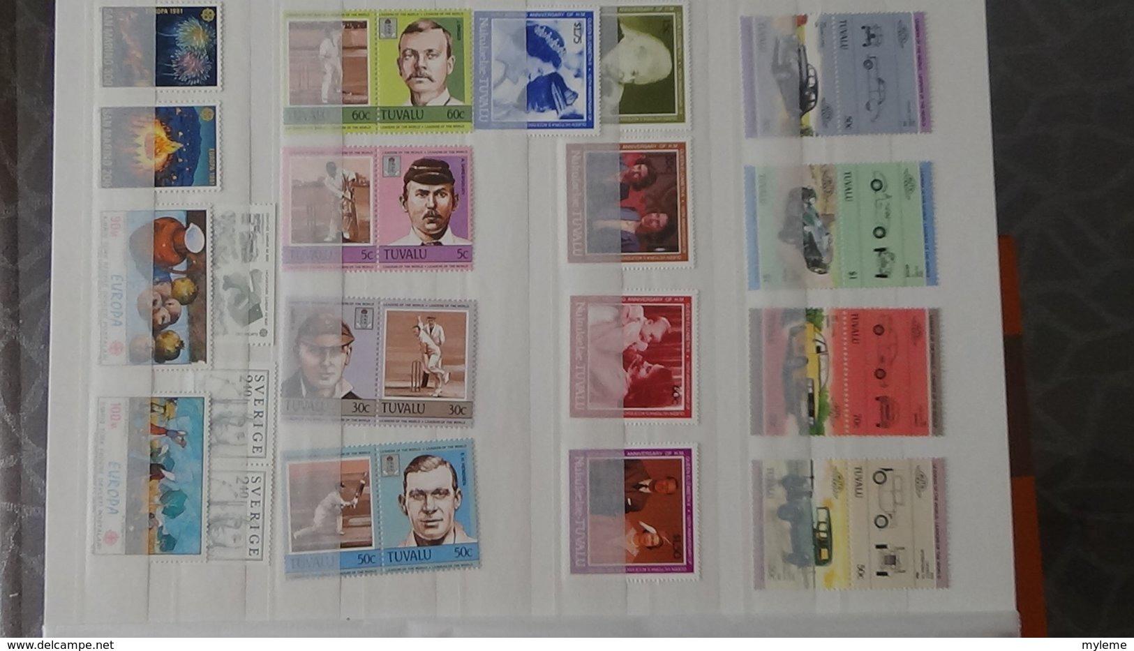 Plus De 140 Blocs, Bandes, Carnets ** + Timbres De Différents Pays. A Saisir !!! - Collections (with Albums)