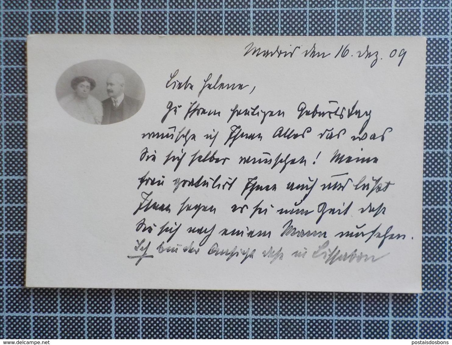 11.212) Count Christian Von Tattenbach Und Countess Constance Von Metzler Tattenbach Deutschland Germany Photo Autograph - Familias Reales