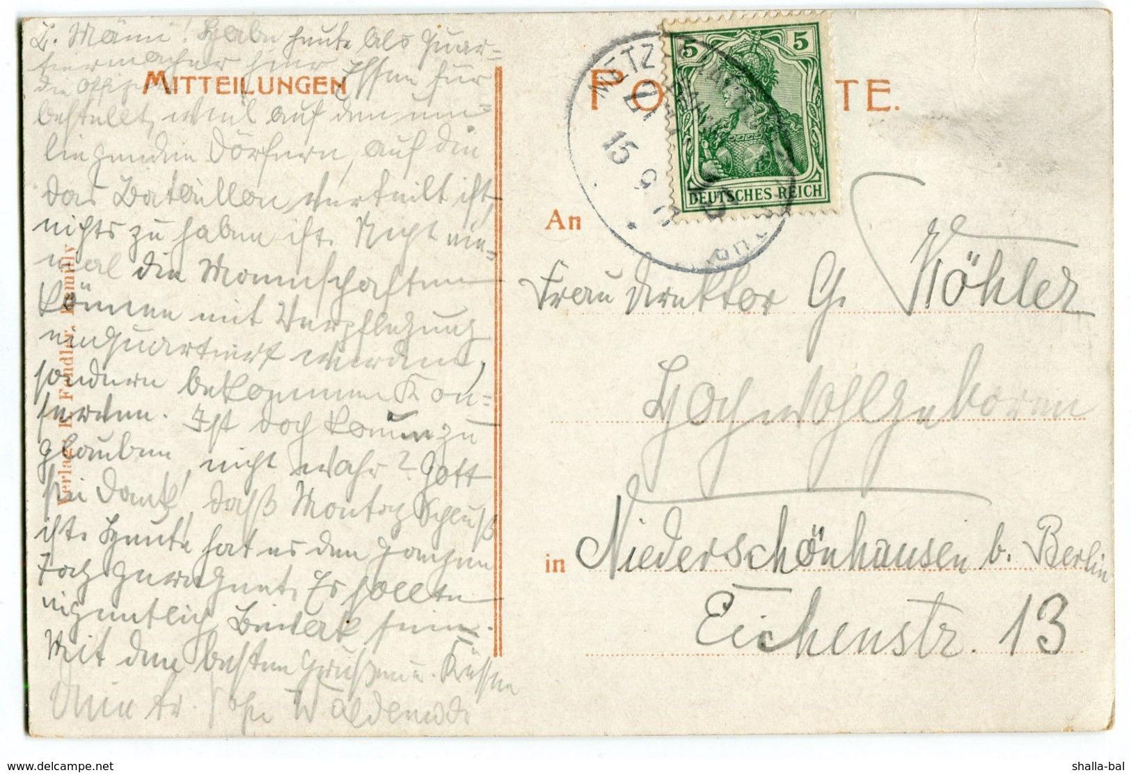 Frankreich - Remilly Chateau Peupion -Villa Masson Bahnpost -gel.1911 - Francia