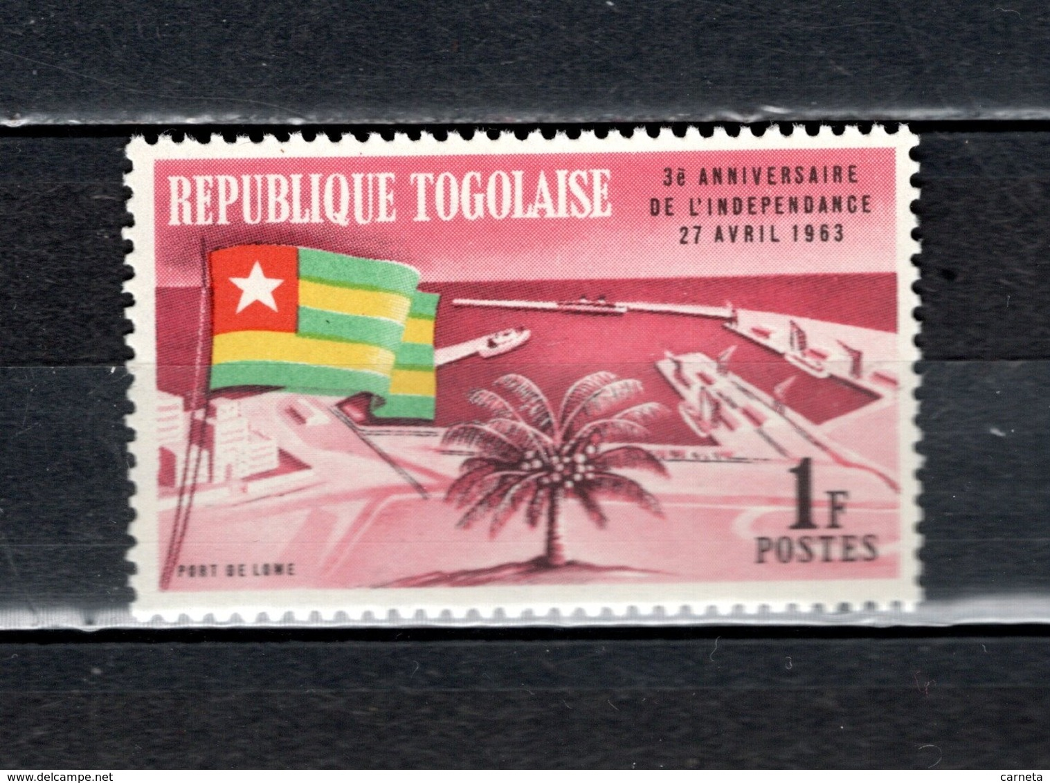 TOGO N° 382   NEUF SANS CHARNIERE COTE  0.30€  DRAPEAUX  PORT - Togo (1960-...)